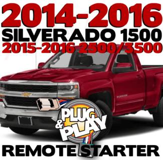 2014-2016 Chevrolet Silverado 1500 2500 3500 Plug n Play Remote Starter