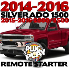 2016 Chevy Silverado 1500 Plug n Play Remote Starter Kits