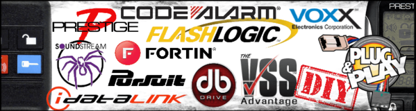 Prestige-Flashlogic-Fortin-Code Alarm-Pursuit-Plug-n-Play-DB DRIVE-Soundstream-idatalink