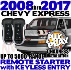 2008 2009 2016 2017 CHEVROLET EXPRESS VAN REMOTE STARTER APSRS-5BZ