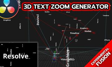 3D Text Zoom Generator (FUSION)