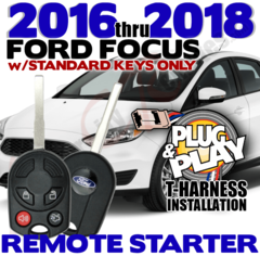 2016-2018 Ford Focus Remote Starters