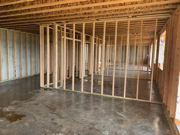 Framing new basement Bedroom full basement Remodel Spokane area