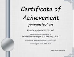 Perishable Handling Certificate-2
