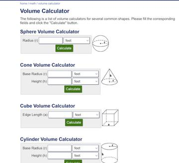 Volume Calculations