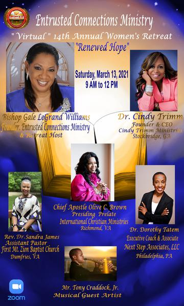Entrusted Connections Ministry 14th Annual Women's Retreat Retreat