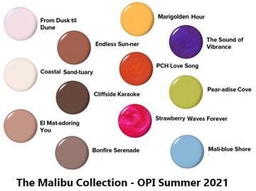 OPI Summer 2021 Malibu Collection