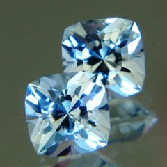 unheated pair of blue sapphires